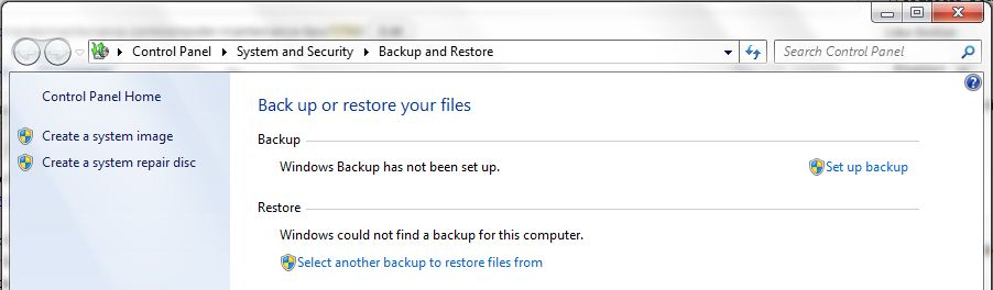 windows 7 backup tool