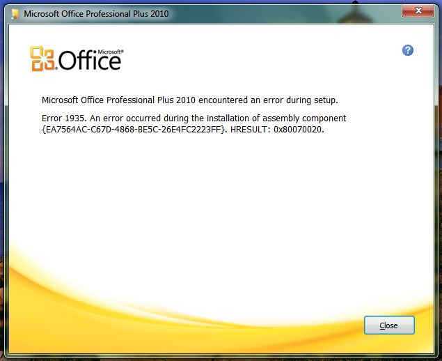 Microsoft Office 2010 installation problems